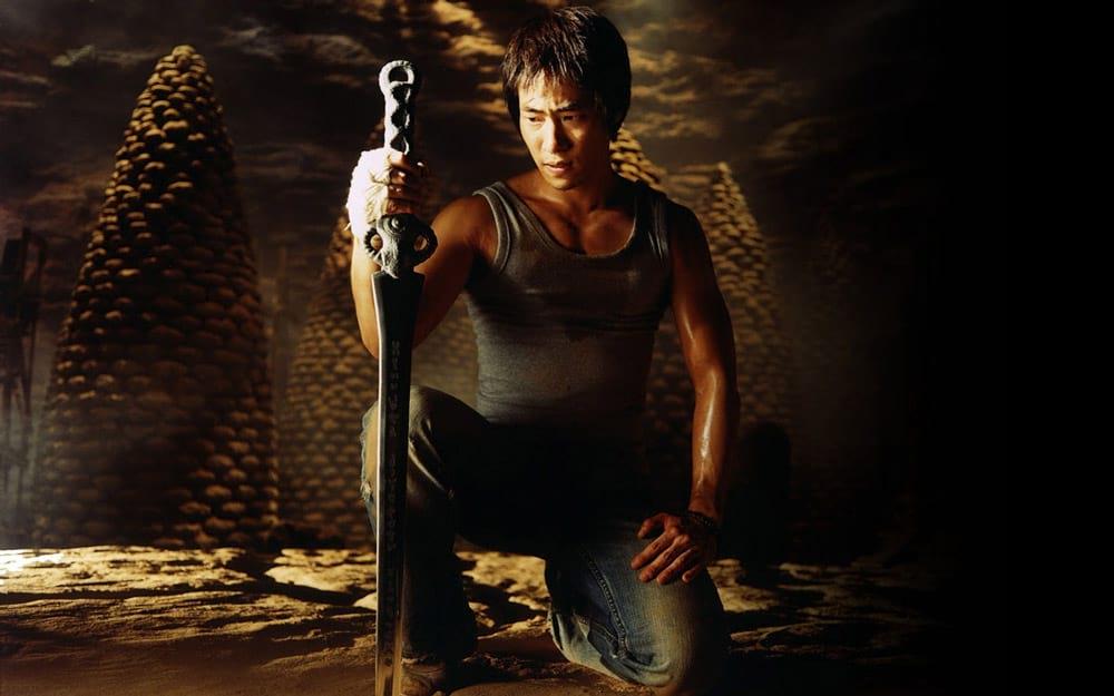 Ryu Seung-Beom avec une épée dans Arahan