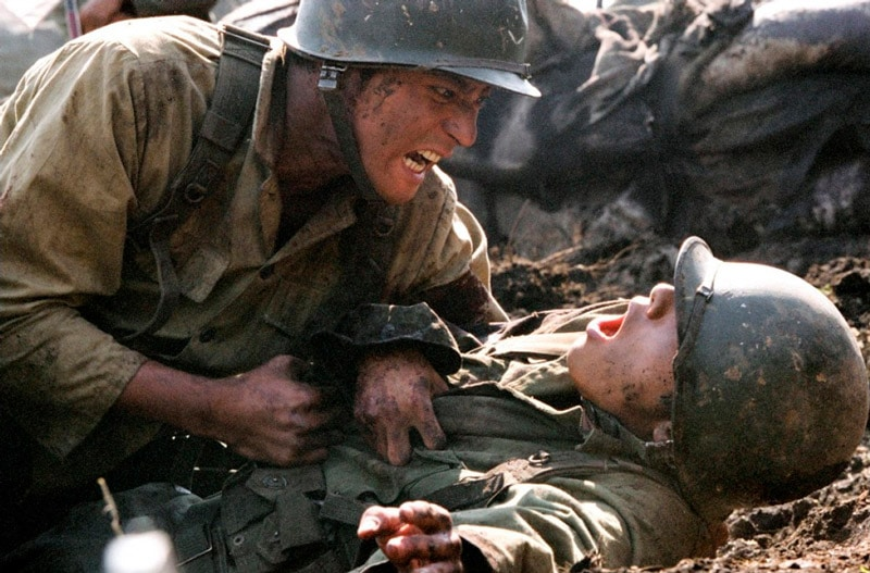 Scène de guerre dans le film coréen Frères de Sang