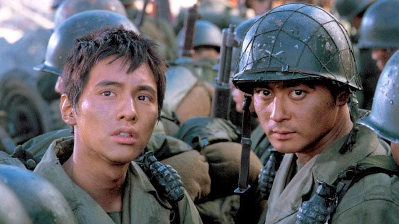 Won Bin et Jang Dong Gun dans Frères de Sang (Taegukgi)