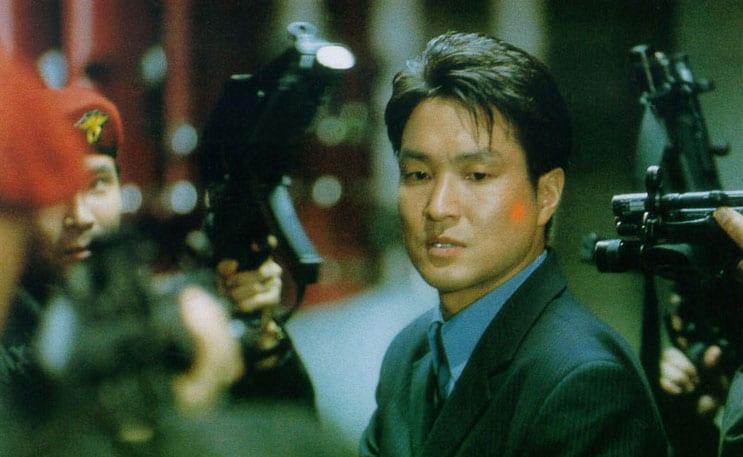 Han Suk-Kyu dans le film d'espionnage Shiri