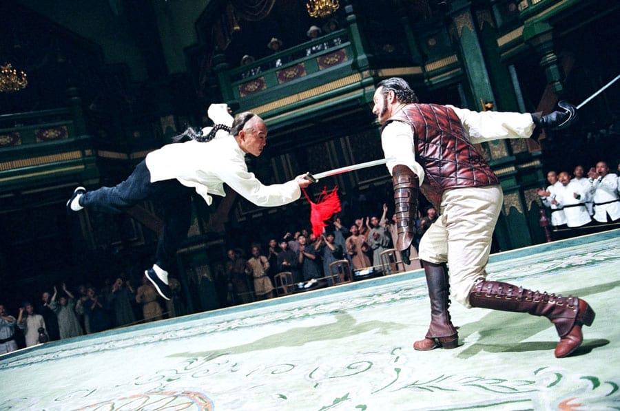 Scène de combat dans Le Maître d'Armes