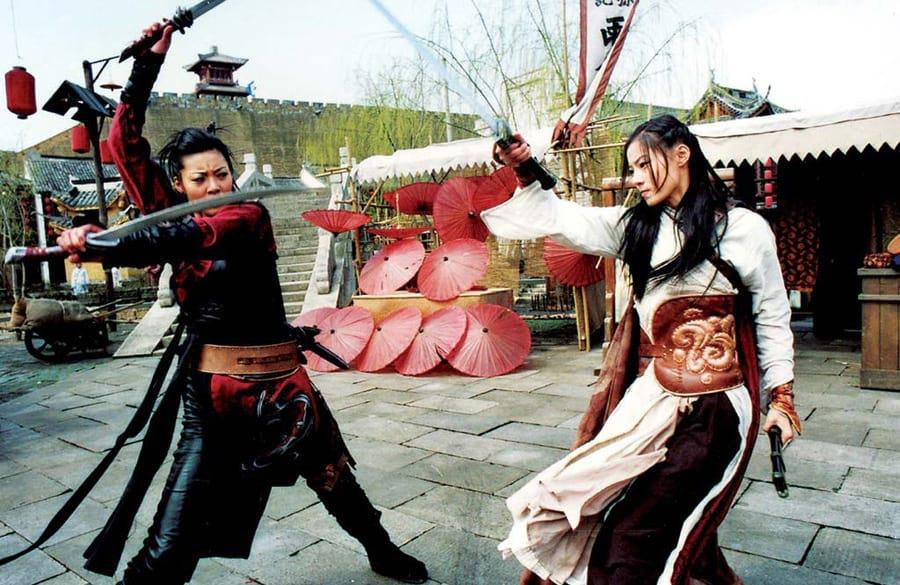 Scène de combat dans Shadowless Sword