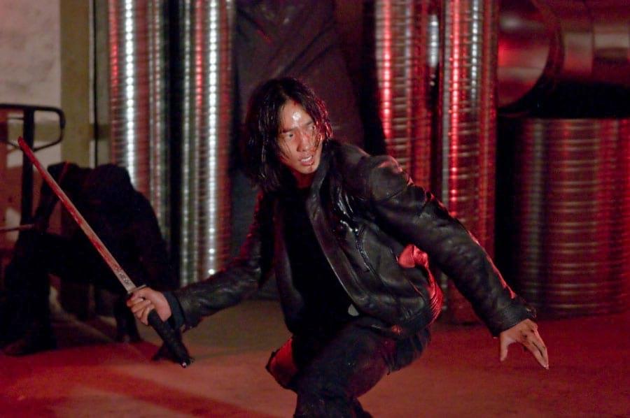 Scène de combat au sabre avec Rain (Ninja Assassin)