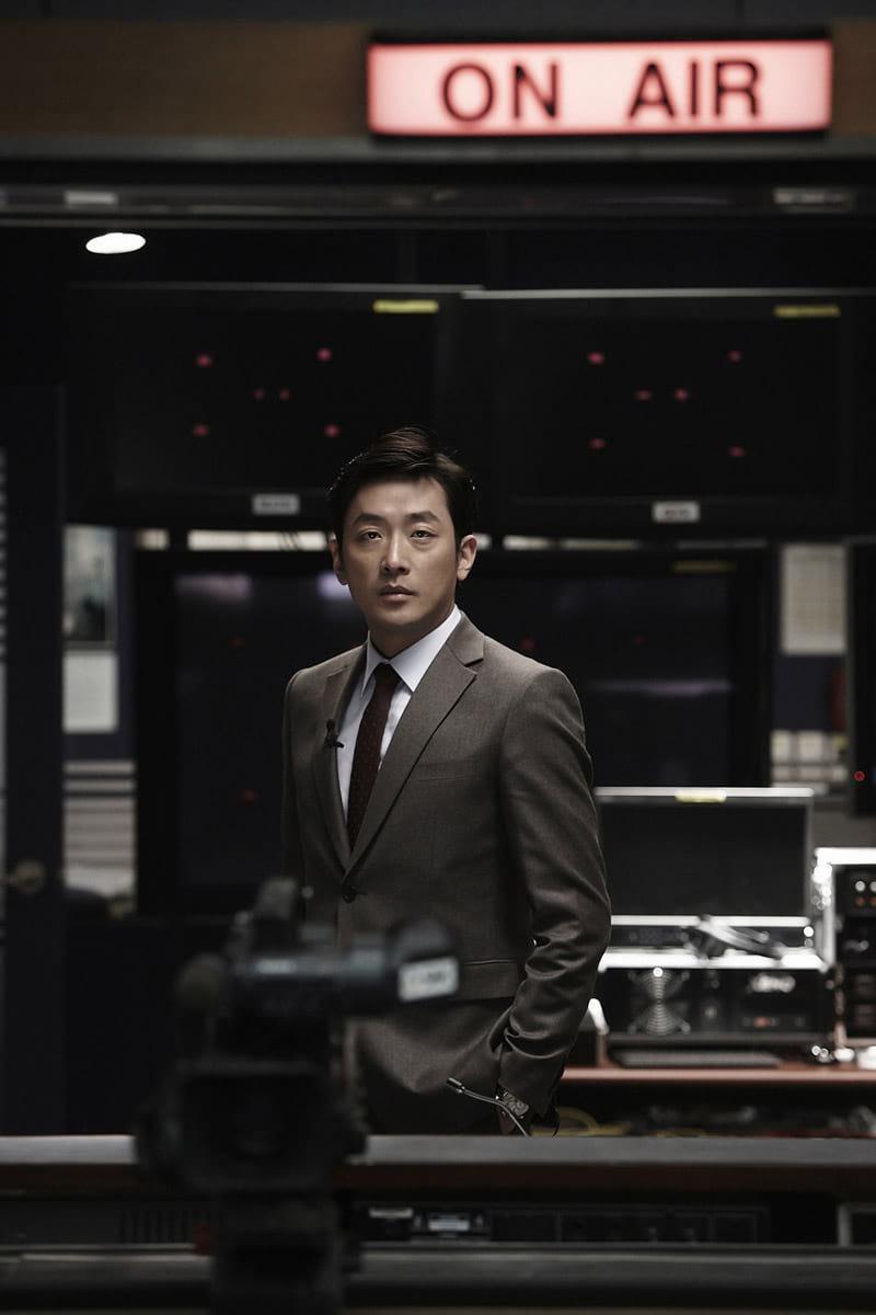 L'acteur Ha Jung-Woo dans The Terror Live