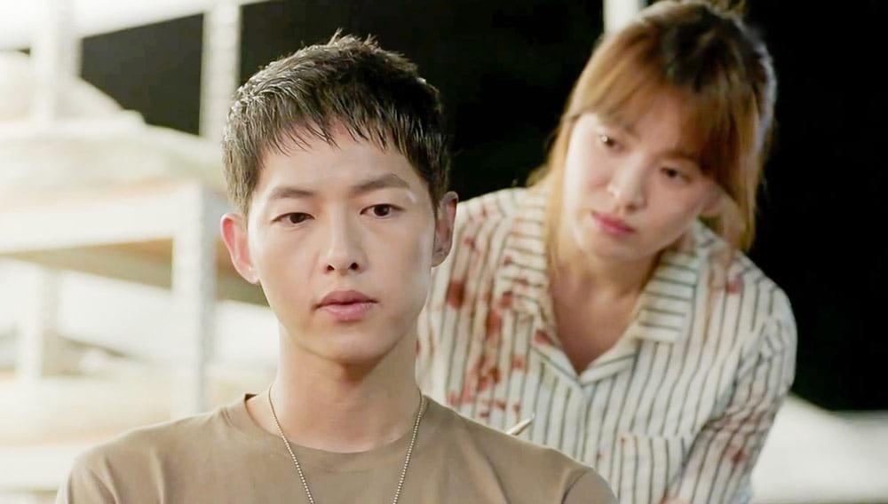 Song Joong Ki et Song Hye Kyo dans Descendants of the Sun