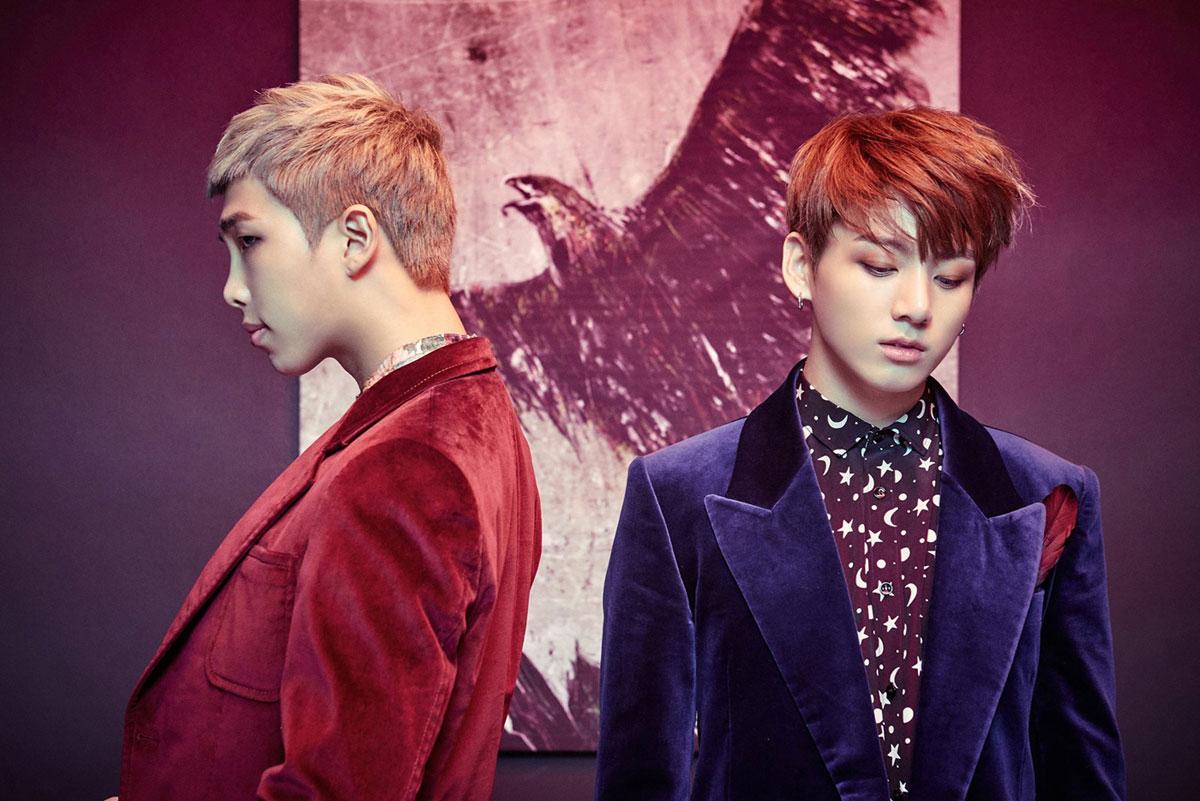 Jeon Jungkook et Kim Nam Joon (RM)
