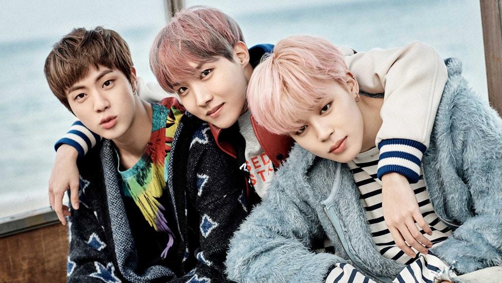 Jin, J-Hope et Jimin