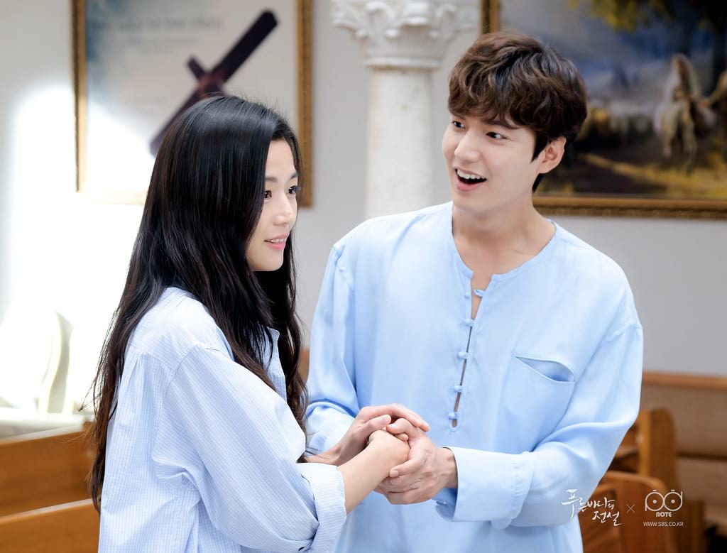 Jun Ji Hyun et Lee Min Ho dans Legend of the Blue Sea