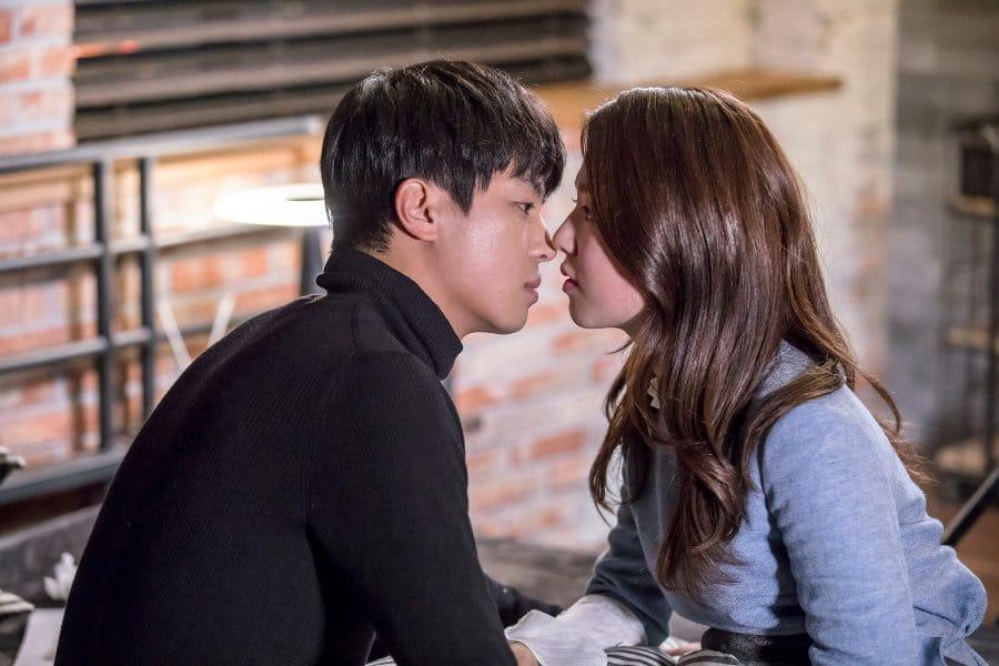 My Shy Boss ; scène de baiser entre Yeon Woo Jin et Park Hye Soo
