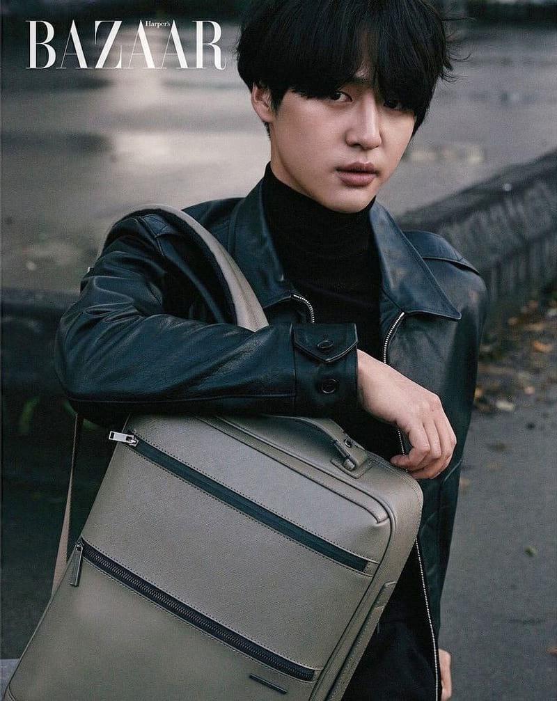 Yang Se Jong dans le numéro de décembre 2017 de Harper's Bazaar Korea