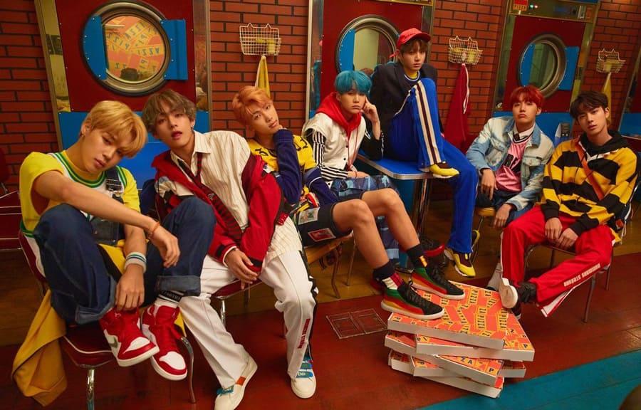 Le groupe coréen BTS