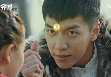 Son Oh Gong (Lee Seung Gi) embobine Jin Seon Mi dans l'épisode 1 de HWAYUGI