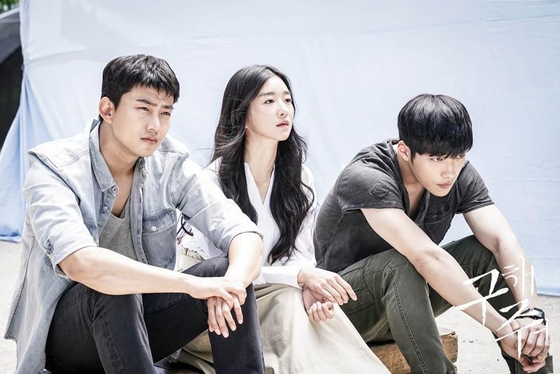 Ok Taecyeon, Seo Ye Ji et Woo Do Hwan dans Save Me (OCN)