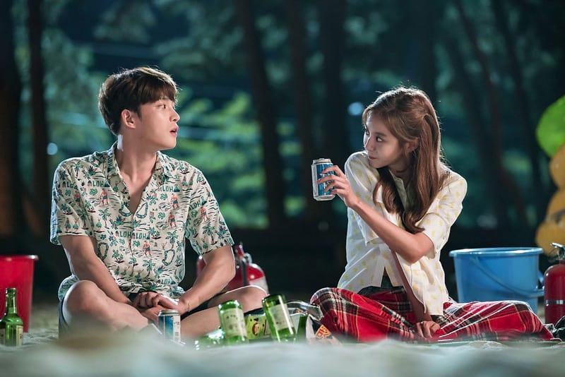 Kim Jaejoong et Uee dans Manhole