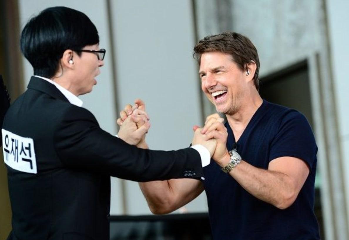 Yoo Jae Suk et Tom Cruise dans Running Man