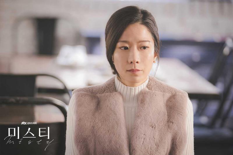 L'actrice Jeon Hye-Jin dans le drama Misty