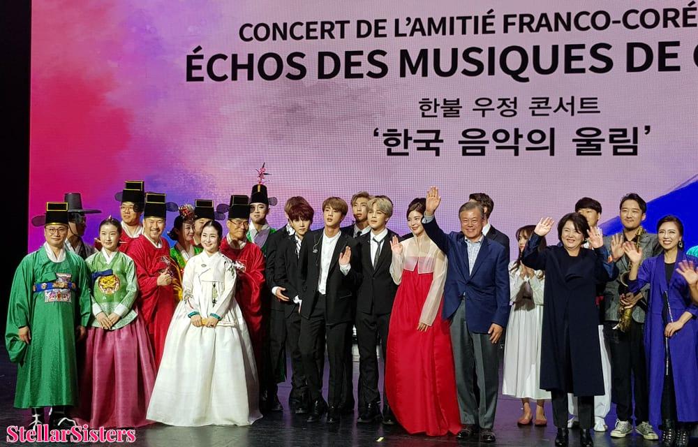 BTS et le président Moon Jae-in