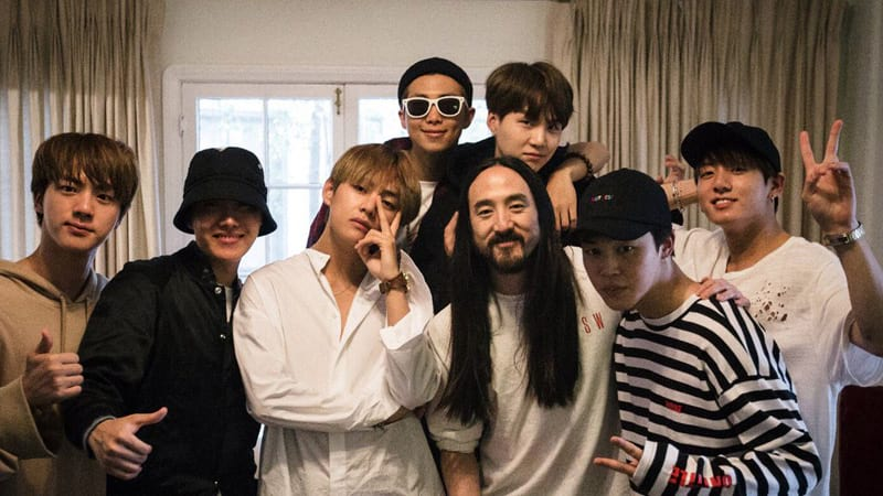 BTS et Steve Aoki