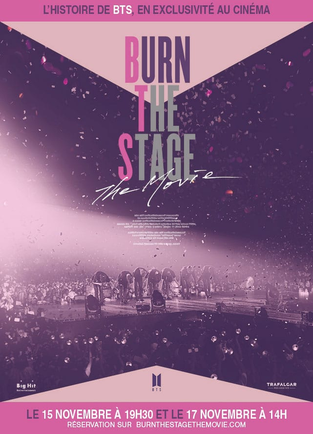 Burn the Stage : poster FR