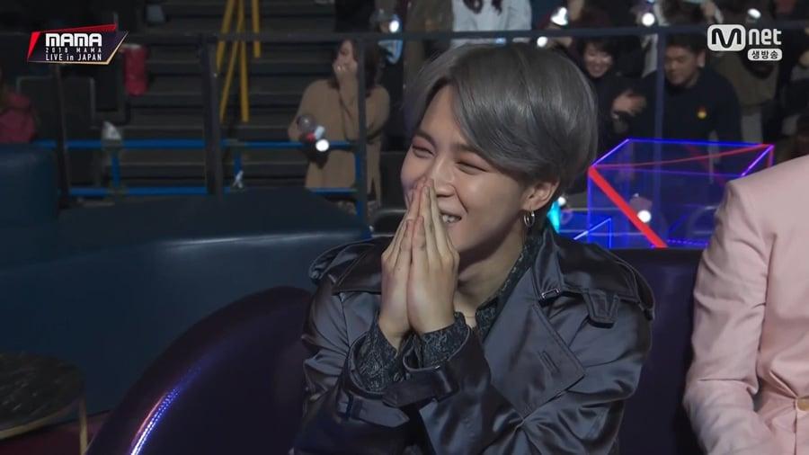Jimin de BTS réagit au compliment de Yang Sejong aux MAMA 2018
