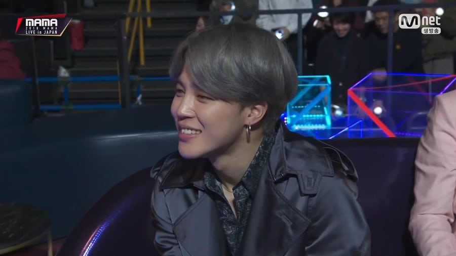 Jimin de BTS est ému à la cérémonie des MAMA 2018