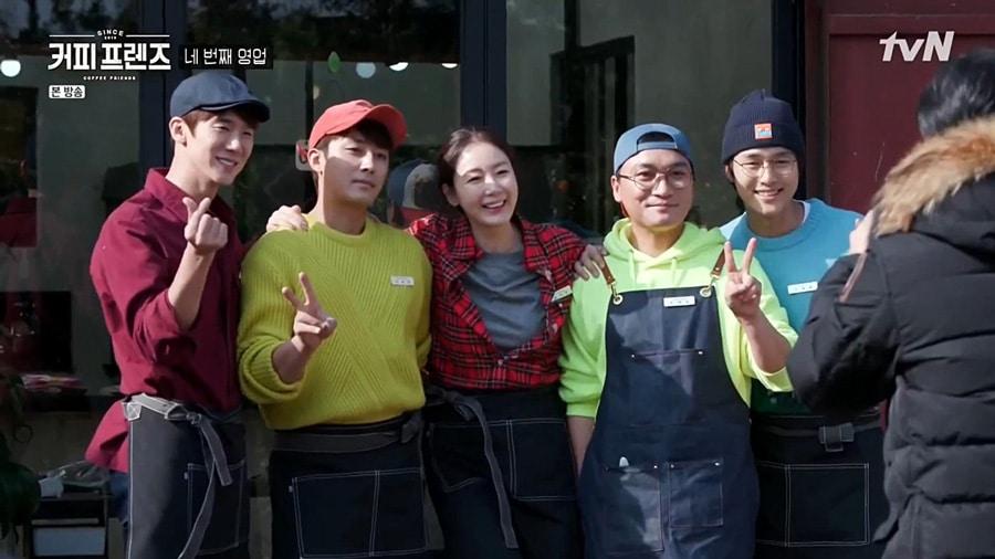 Yoo Yeon Seok, Son Ho Jun, Choi Ji Woo, Jo Jae Yoon et Yang Se Jong dans Coffee Friends