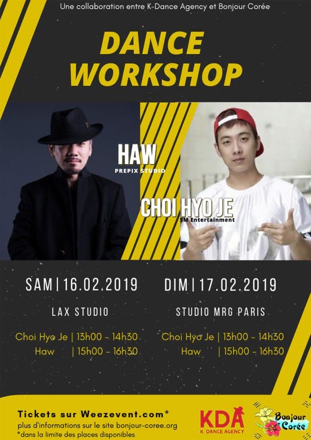 K-pop Workshop 2019 : Haw et Choi Hyo-Je