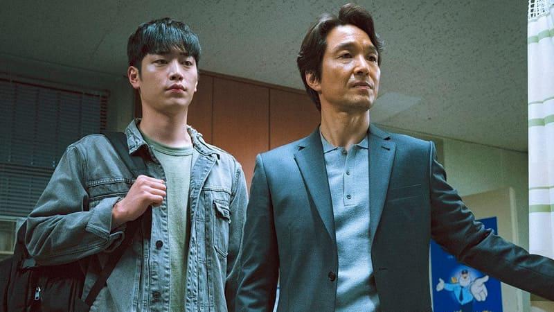 Seo Kang Joon et Han Suk Hyu dans Watcher