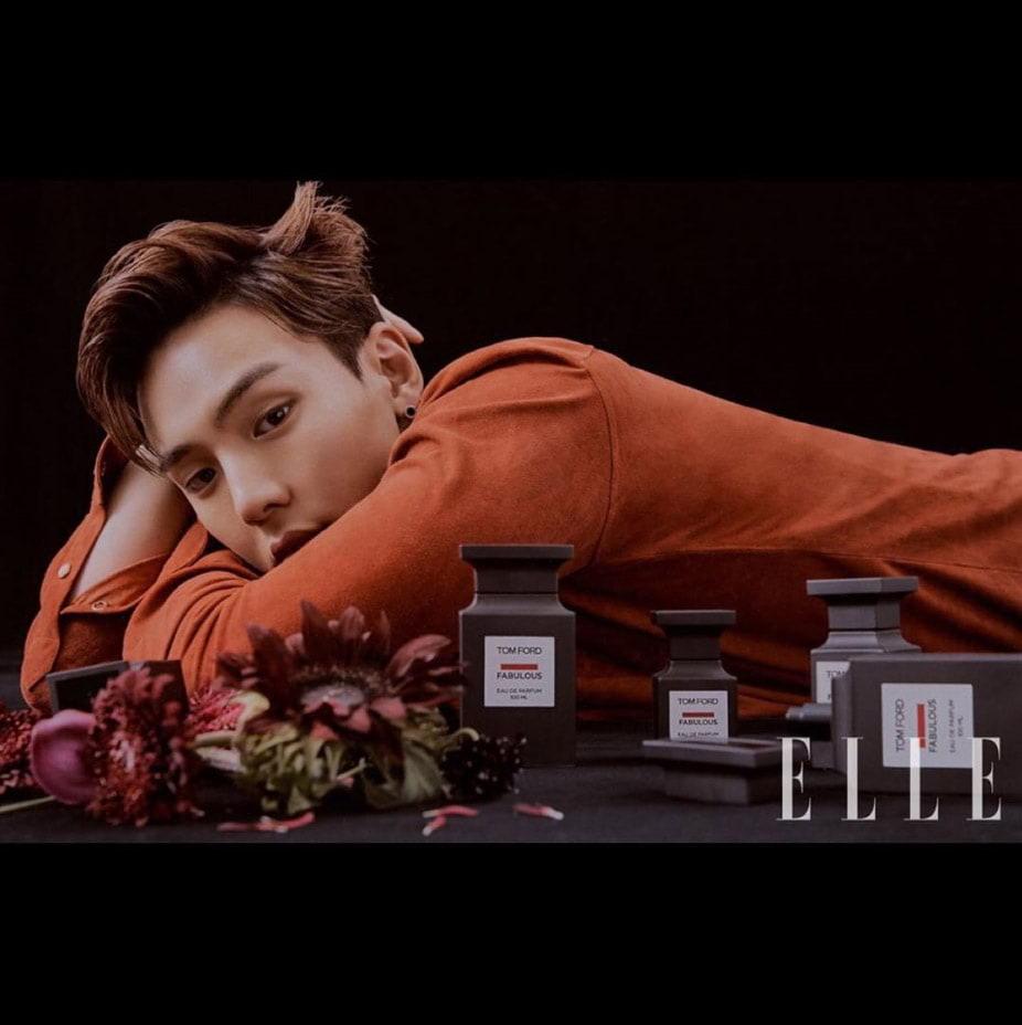 Shownu pose pour les parfums Tom Ford