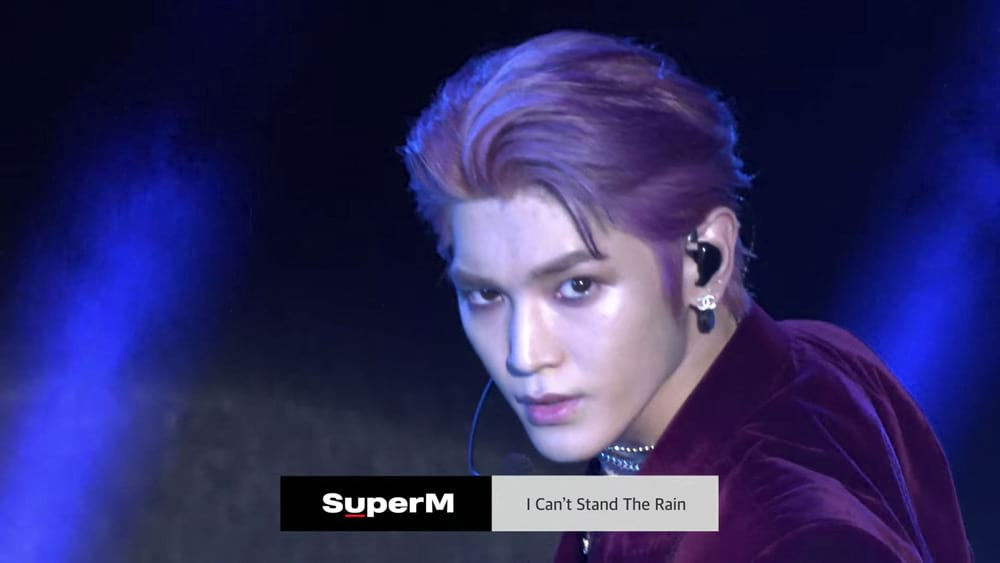 Taeyong performs I Can't Stand The Rain