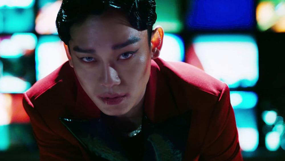 Chen (EXO) avec le maquillage du Joker dans Obsession