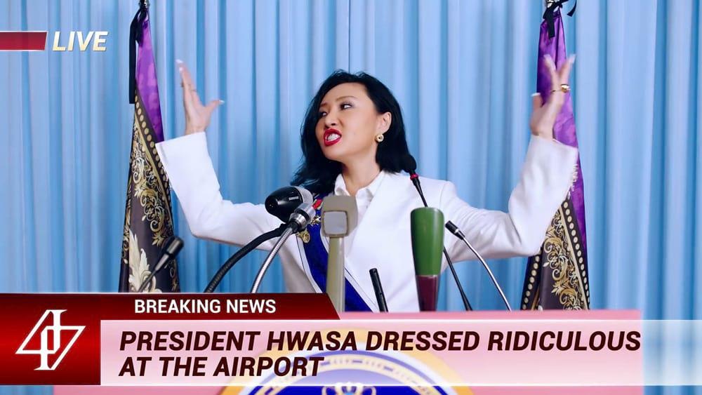 President Hwasa dans Hip de Mamamoo