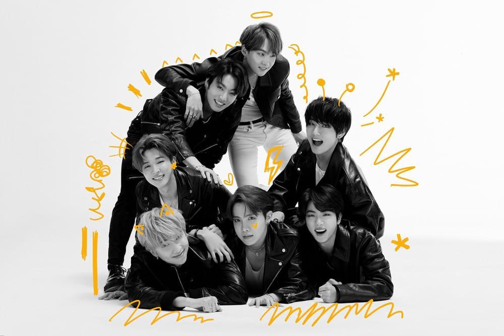 Photo du groupe BTS pour Map of the Soul 7