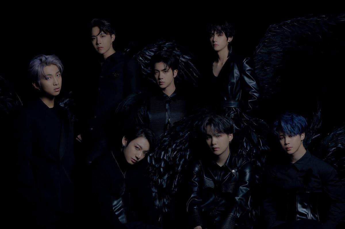 Les BTS en anges noirs