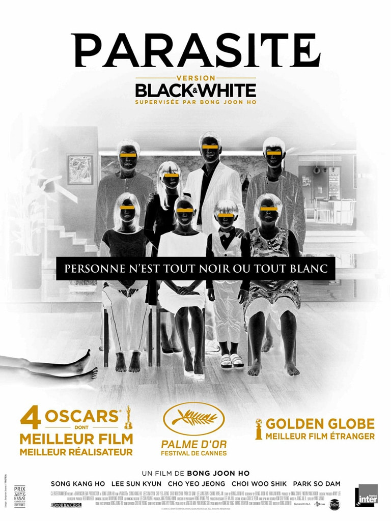 Poster de Parasite black & white