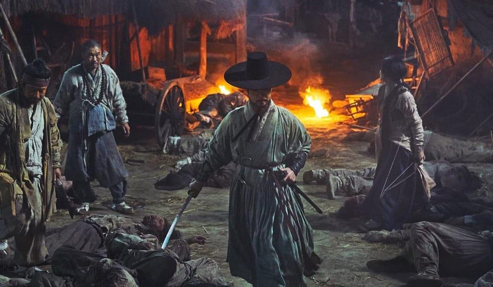 Combat au sabre dans le film Rampant