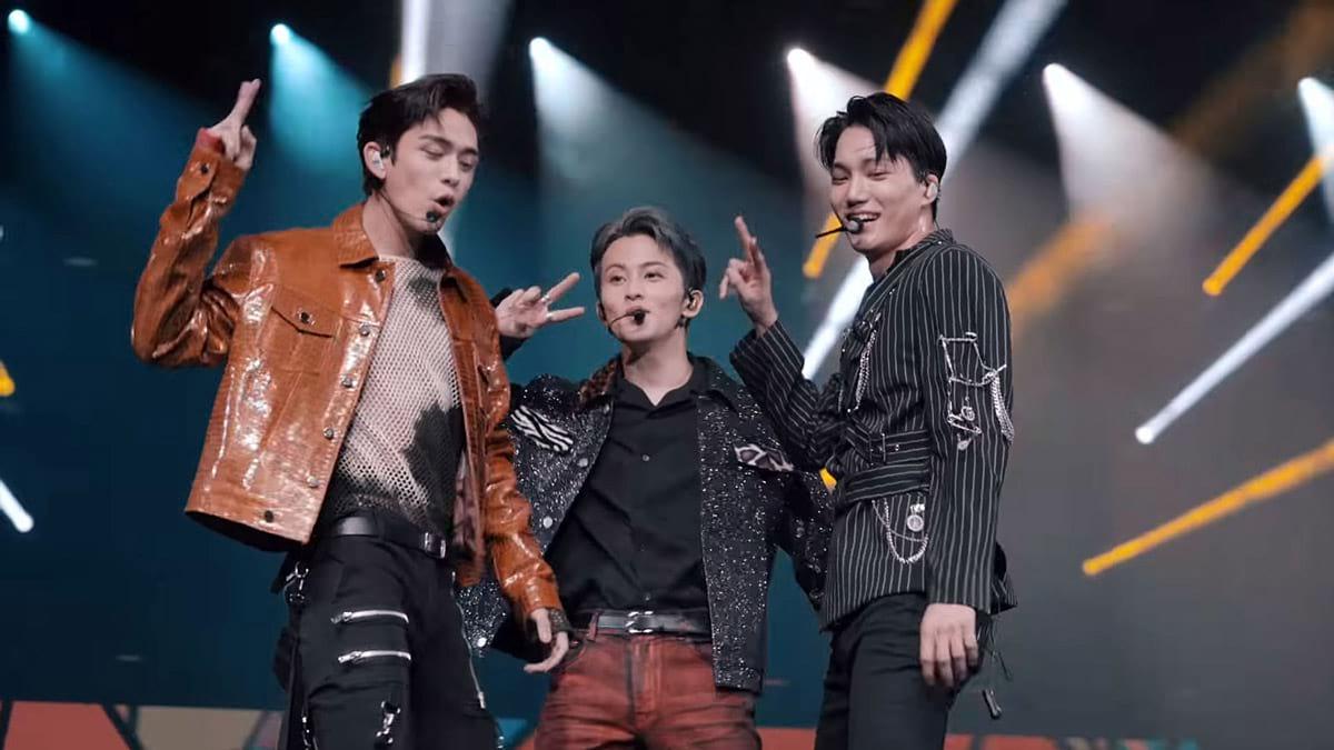 Lucas, Mark et Kai au concert de Super M à Paris 2020