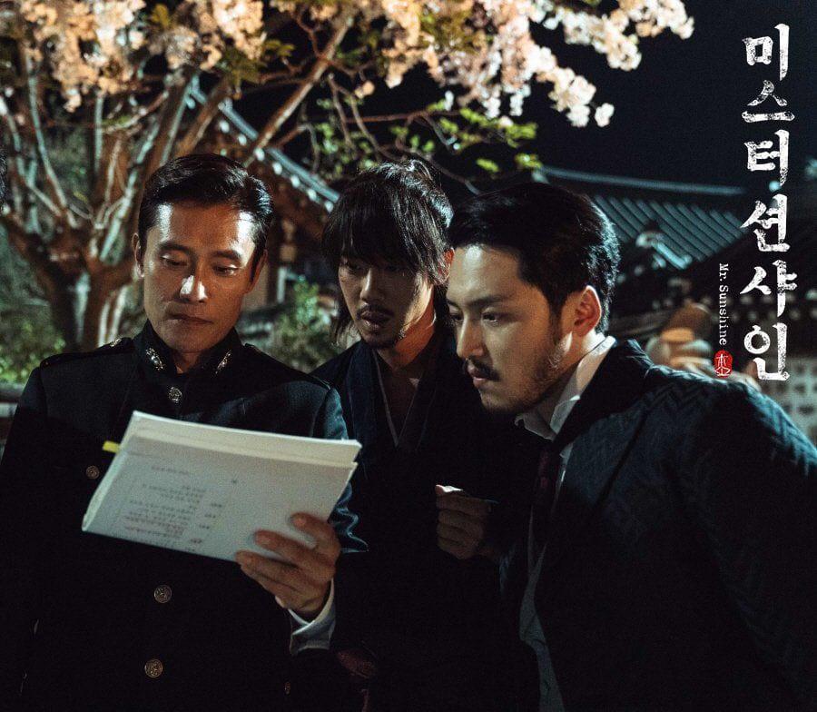 Lee Byung-Hun, Yoo Yeon-Seok et Byun Yo-Han sur le tournage de Mr. Sunshine