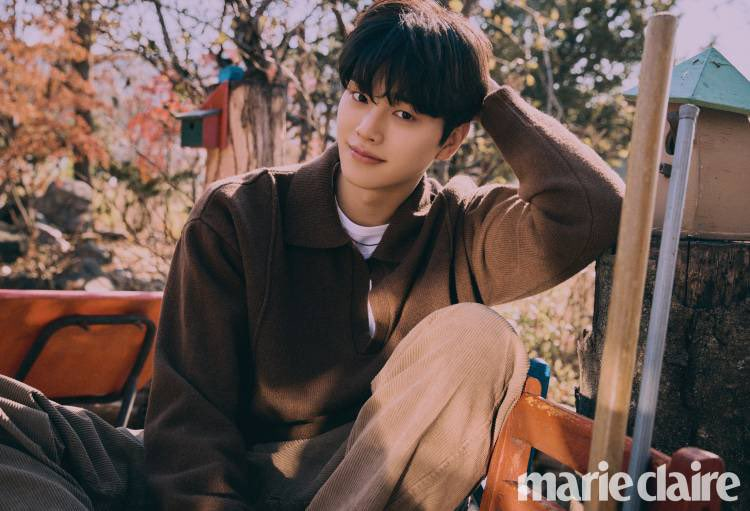 Song Kang pour Marie Claire